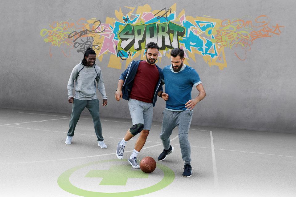 Basketball-Bandage-Knie